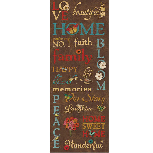 Tim Coffey Blossomwood Words Embossed Stickers _30-387515
