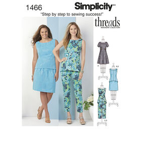 Simplicity Pattern 1466 Misses' & Plus Dress, Tunic or Top, Skirt & Pants