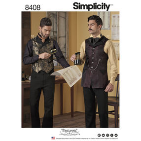 Simplicity Pattern 8408 Men's Shirt and Vests