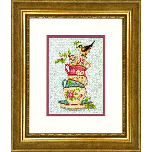Stacked Tea Cups, Counted Cross Stitch_70-65171