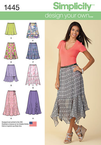 Misses' Design Your Own Skirt with Length Variations