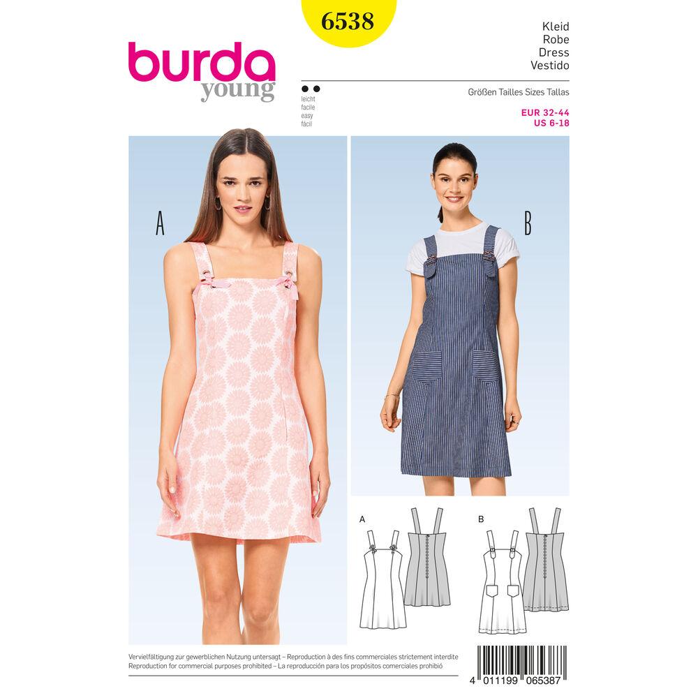Burda Style Pattern B6538 Misses 39 Strappy Dress