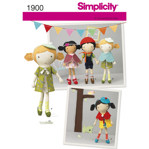 Simplicity Pattern 1900 Doll and Clothes