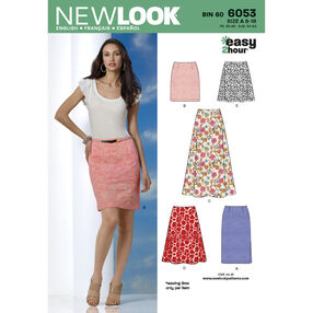 New Look Pattern 6053 Misses' Skirts