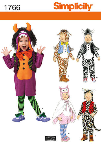 Toddler's Animal Costumes and Hats