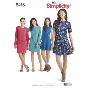 Pattern 8415 Misses'/Miss Petite Dresses with Length and Sleeve Variations