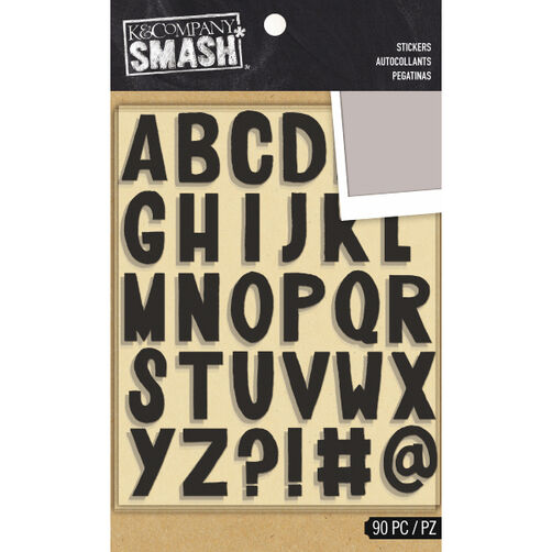 K&Company SMASH Black Alphabet Stickers_30-685772
