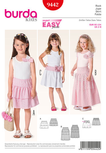 Burda Style Pattern 9442 Children
