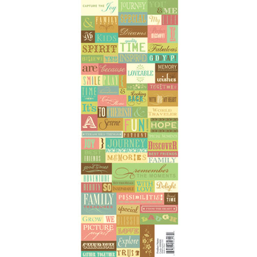 Roam Words & Phrases Foil Embossed Stickers_590861
