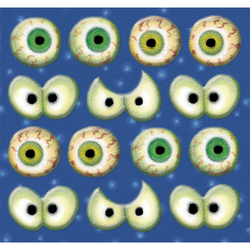 Tim Coffey Clearly Yours Halloween Eyeball Stickers_30-675704