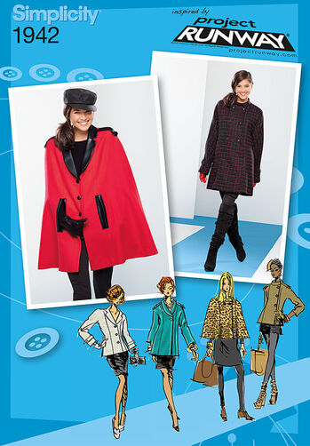 Misses' Coat Jacket & Cape Project Runway Collection