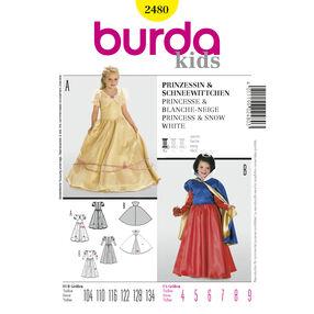Burda Style Pattern 2480 Princess & Snow White