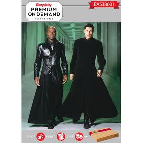 Simplicity Pattern EA538601 Premium Print on Demand Men's and Teens' Duster