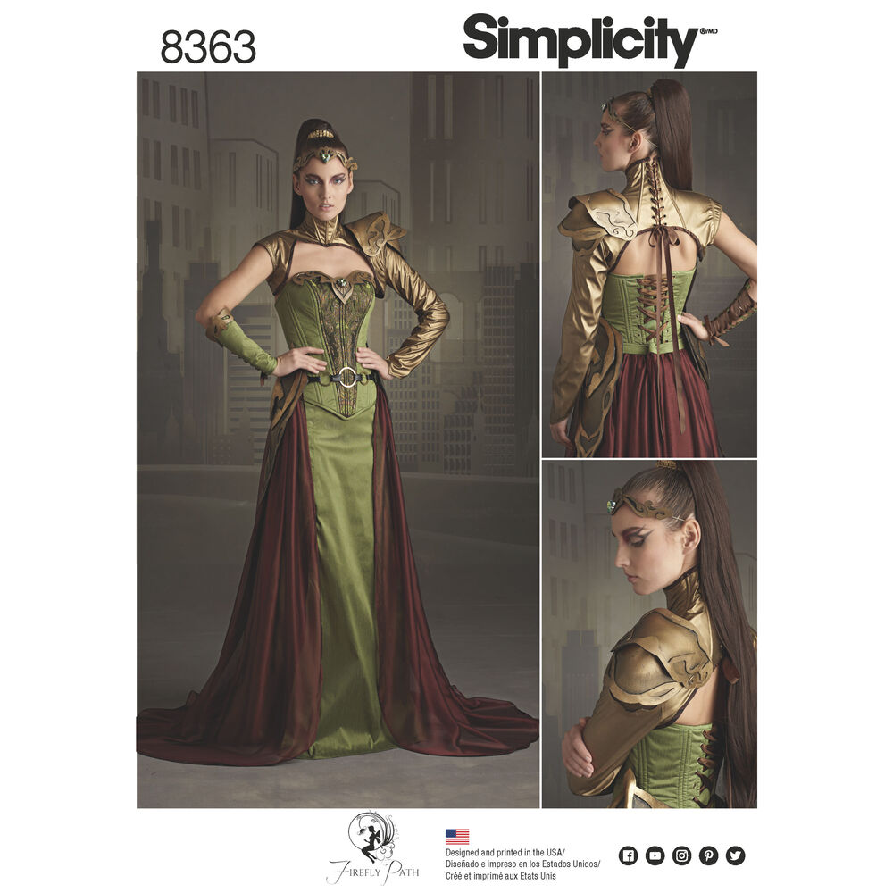 simplicity pattern 8363 misses fantasy ranger costume