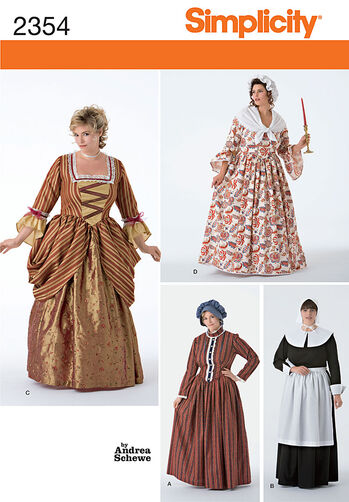 Simplicity Pattern 2354 Plus Size Costumes