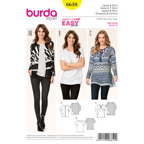 Burda Style Pattern 6610 Jacket and Shirt