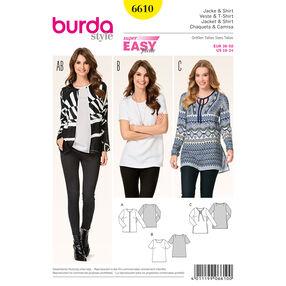Burda Style Pattern 6610 Jacket and Shirt