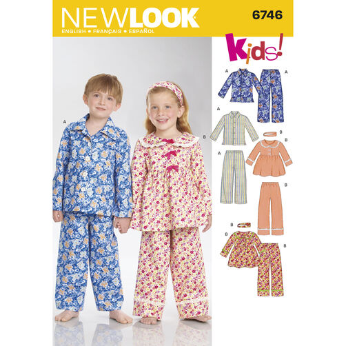 New Look Pattern 6746 Child Sleepwear