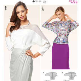 Burda Style Pattern 6649 Misses' Blouse