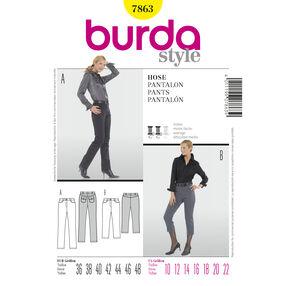 Burda Style Pattern 7863 Pants