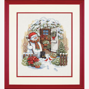 Garden Shed Snowman, Counted Cross Stitch_08817