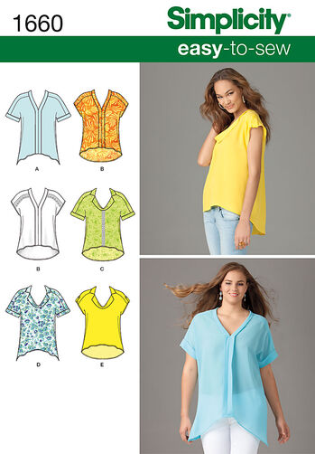 Misses' & Plus Size Loose Fitting Tops