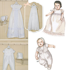 Babies' Christening Sets with Bonnets