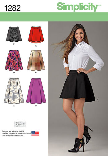 Misses' Skirt with Length and Trim Variations