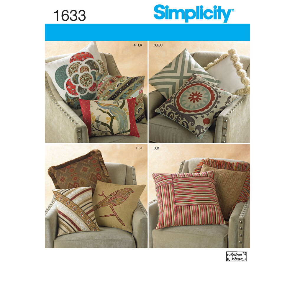 Decorative Pillow Patterns Instructions : Pattern for Decorative Pillows Simplicity
