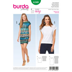 Burda Style Pattern B6540 Misses' Top and Dress