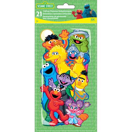 Sesame Street  Chipboard Pieces_51-01004