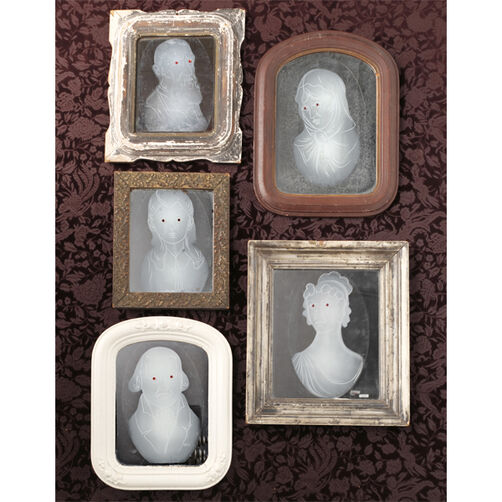 Gothic Manor Framed Ghost Mirror Clings_48-20258