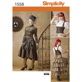 Simplicity Pattern 1558 Misses' Steampunk Costume