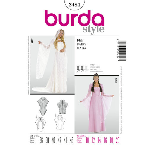 Burda Style Pattern 2484 Fairy