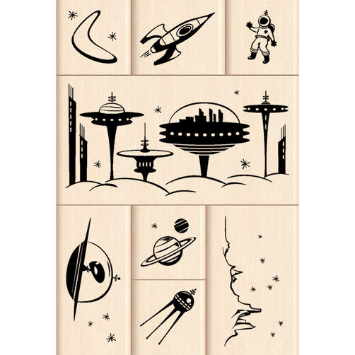 Outer Space Layering Wood Stamps_60-10107