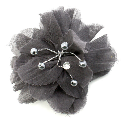 Gray Pom-pom Ready to Wear Flower_56-61030