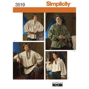 Simplicity Pattern 3519 Misses', Men's & Teen's Costumes