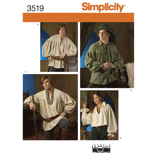 Simplicity Pattern 3519 Misses', Men's & Teen's Costumes