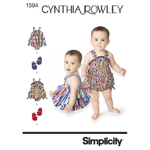 Simplicity Pattern 1594 Babies' Sportswear Cynthia Rowley Collection