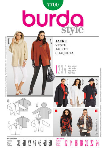 Burda Style Pattern 7700 Jacket