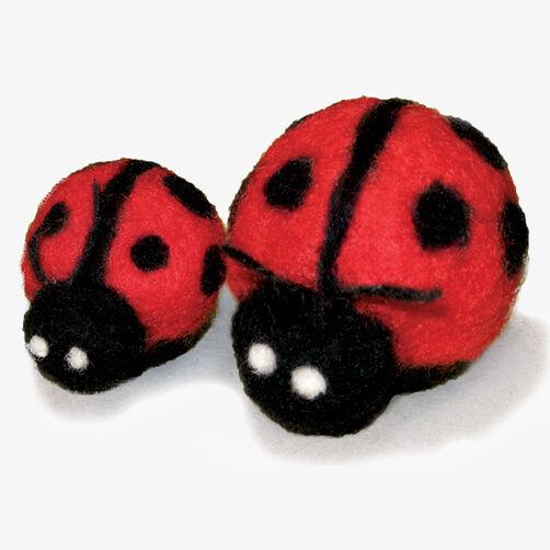 Round & Wooly Ladybugs, Needle Felting_72-73928
