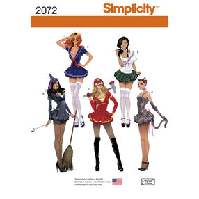 Simplicity Pattern 2072 Misses'  Costumes