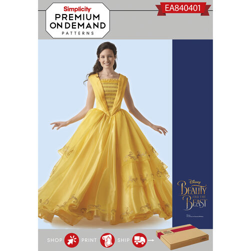 Simplicity Pattern EA840401 Misses' Disney Live Action Belle Costume