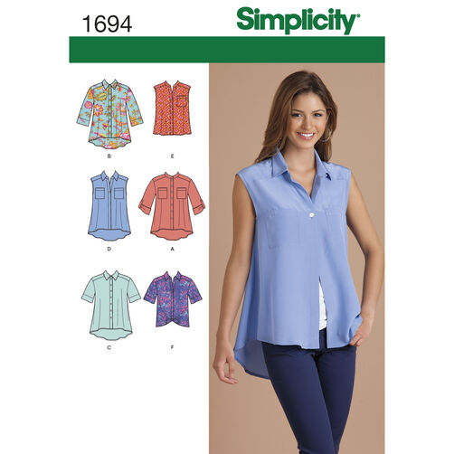 Simplicity Pattern 1694 Misses' Tops