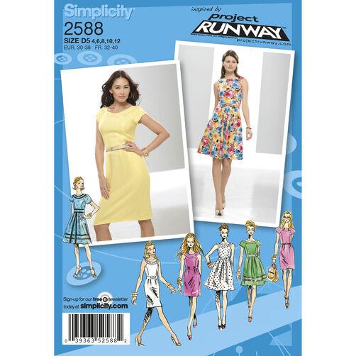 Simplicity Pattern 2588 Misses Dresses