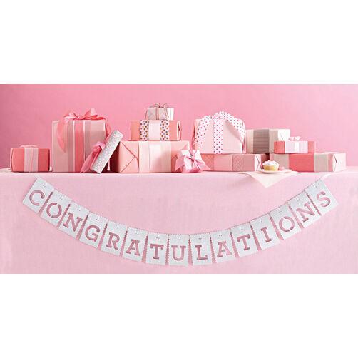 Congratulation White Banner_44-10053