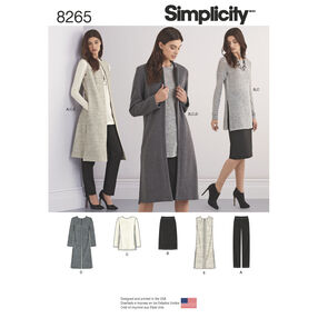 Simplicity Pattern 8265 Misses' and Miss Petite Separates