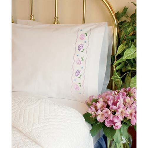 Hydrangeas Pillow Cases, Embroidery_73193