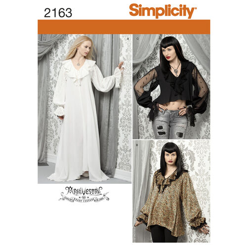 Simplicity Pattern 2163 Misses' Costume