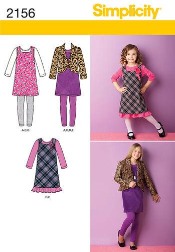 Simplicity Pattern 2156 Child's & Girls' Sportswear